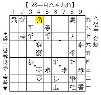 実戦詰将棋 128手目△4九角